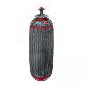 cylindrical covered vessel