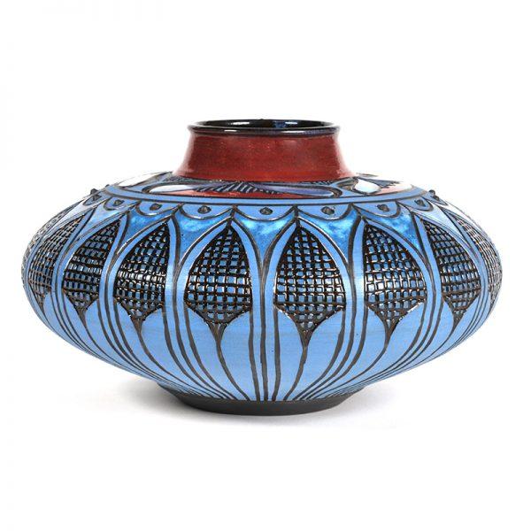 Oblong Vase, Corn Design