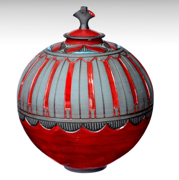 Round Vessel with Lid